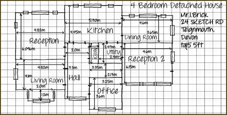 Modelo Rascunho Medidas da Casa