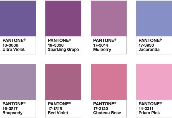 Tons Pantone 2018 Paleta de Cor
