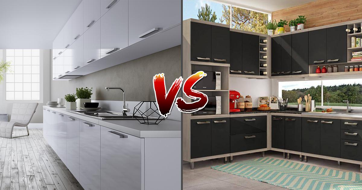 Cozinha Planejada versus Modulada Madeirol