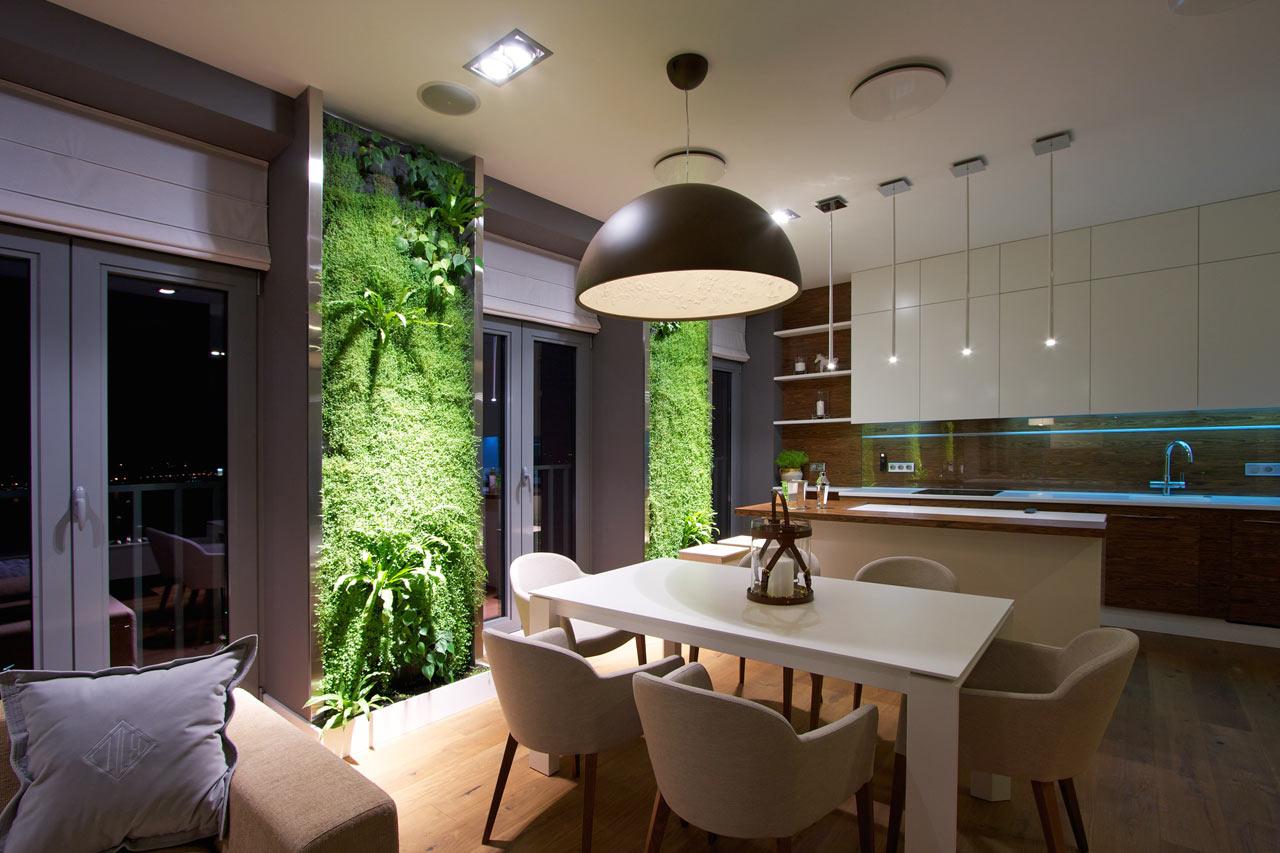 Sala Cozinha Moderna Decoração Plantas