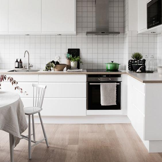 Cozinha Planejada Sofisticada Pequena Linda Branca