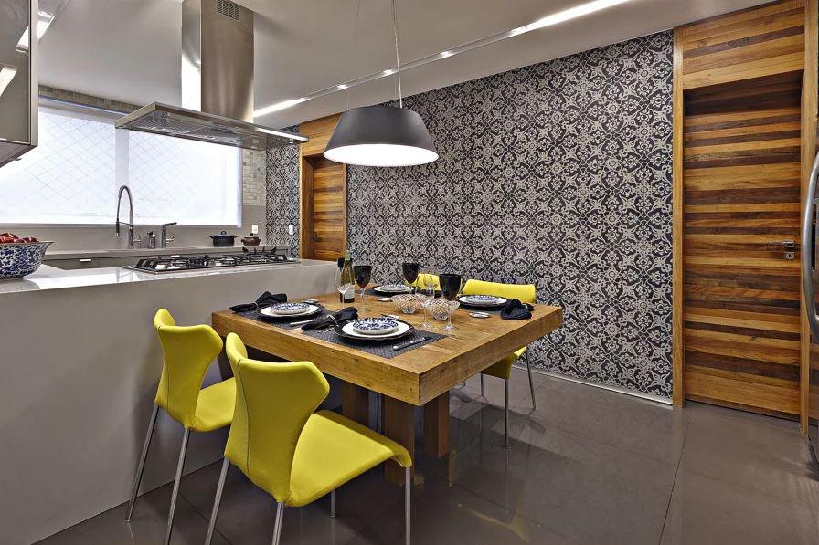 Cozinha Planejada Moderna Papel de Parede