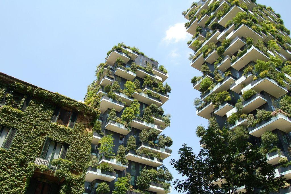 Prédios Design Biofílico Verde Plantas Jardins