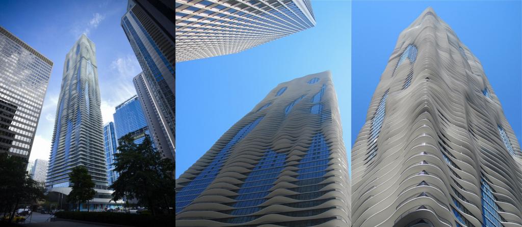 Prédio Arranha-céu Chicago Arquitetura Aqua Tower