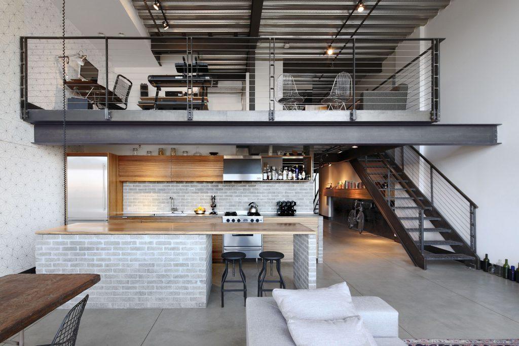 Casa Decoração Estilo Industrial Ambiente Cozinha Sala Quarto