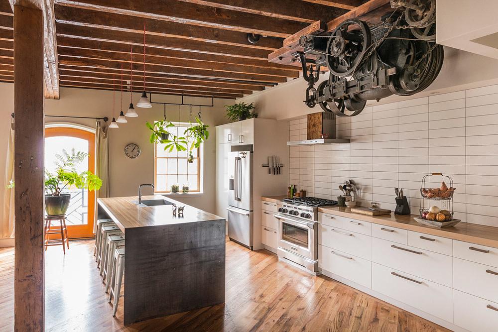 Casa Decoração Estilo Industrial Cozinha Madeira