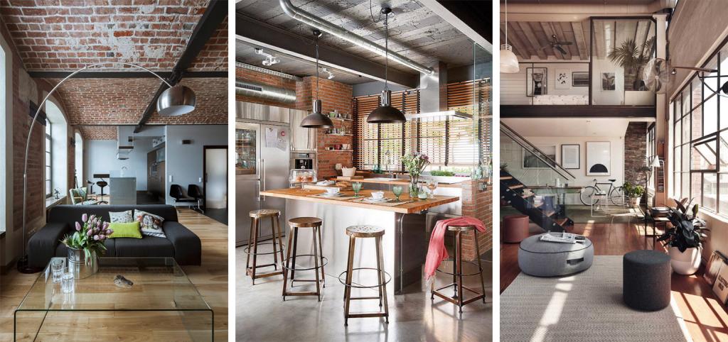 Casa Sala Decoração Estilo Industrial Cozinha Montagem