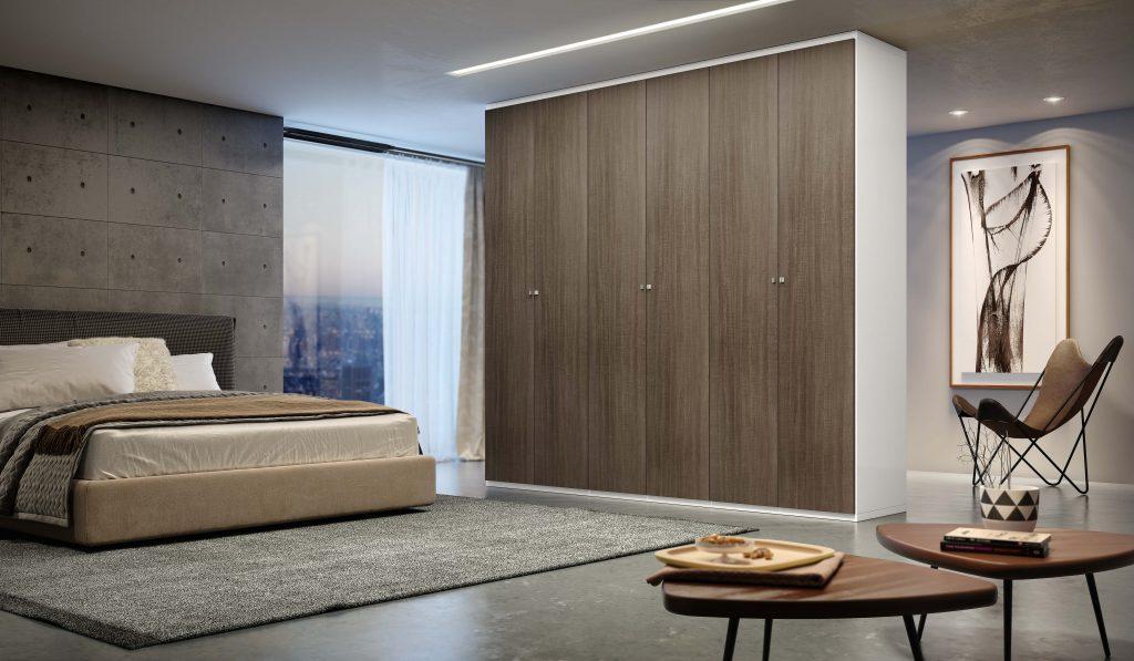 quarto madeirol armário móveis planejados nude