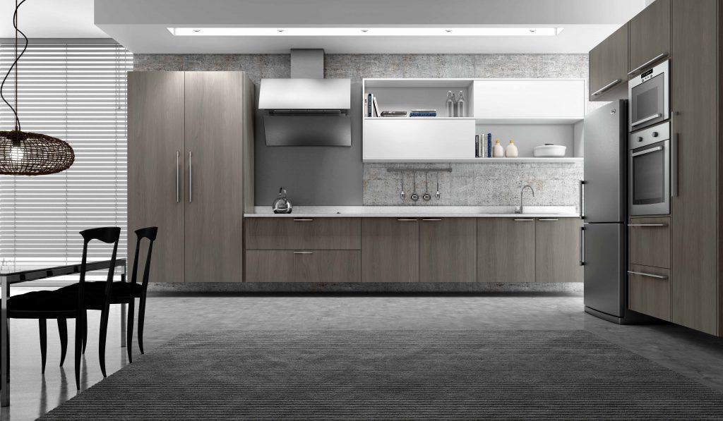 cozinha planejada moderna madeirol cinza