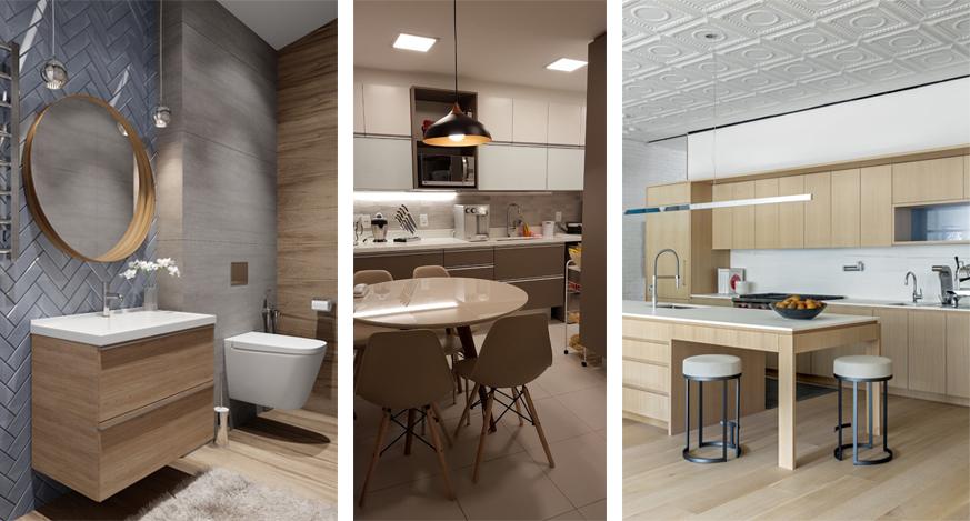 montagem cozinha banheiro cinza bege madeirol