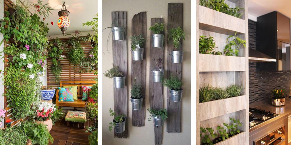 jardins caseiros verticais