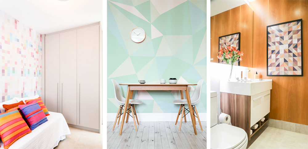 paredes pintura geometrica