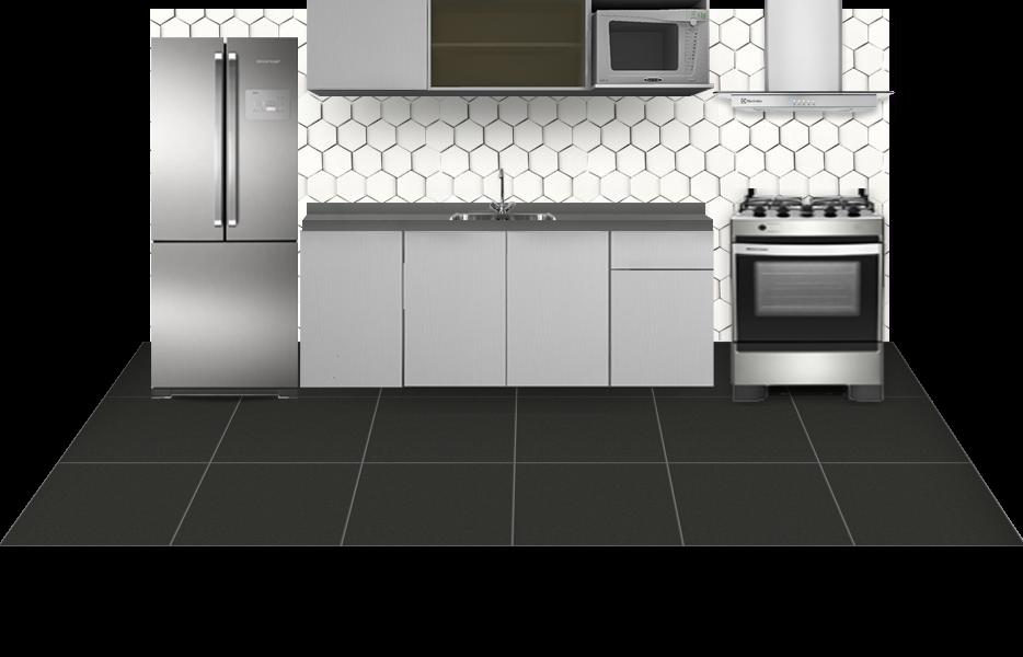 Cozinha clean decorada com Look Decora